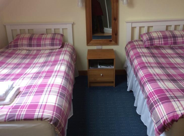 Room 2 is a twin room.